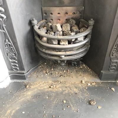 Messy Fireplace