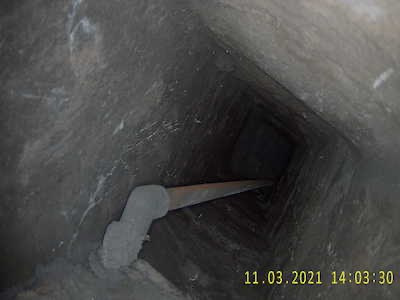 Pipework and Cables in Chimney